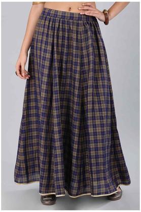 AURELIAWomens Checked Casual Skirt
