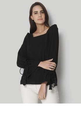 Womens Square Neck Solid Top