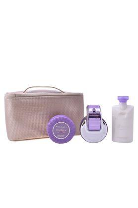 Womens Omnia Amethyste Eau De Toilette Scented Soap Body Lotion and Pouch Set