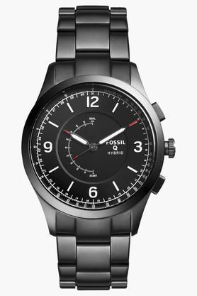 FOSSILMens Q Activist Smoke Stainless Steel Hybrid Smart Watch - FTW1207