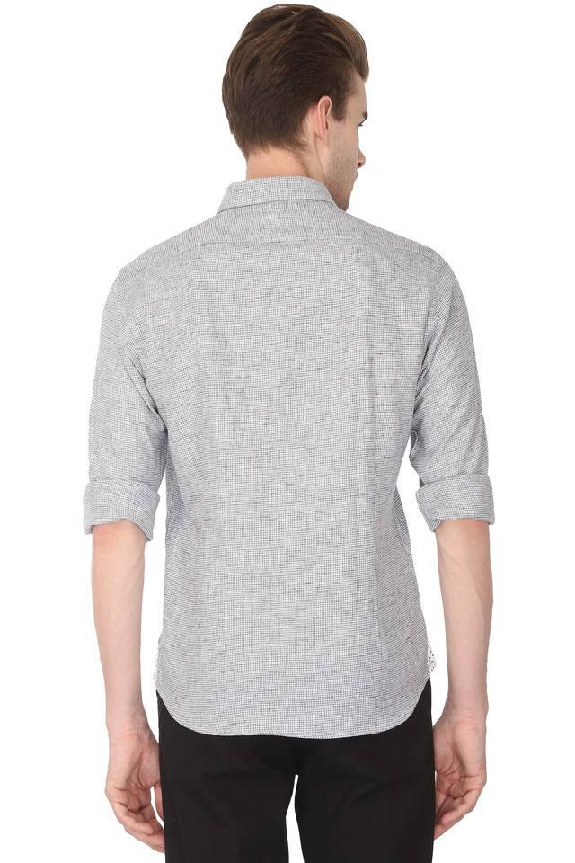 Mens Textured Casual Shirt