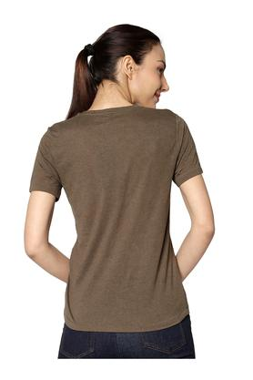 Womens Round Neck Sequined Top