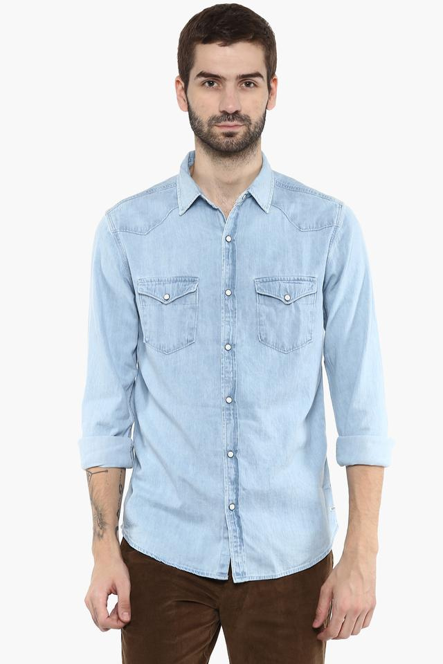Mens Washed Casual Shirt