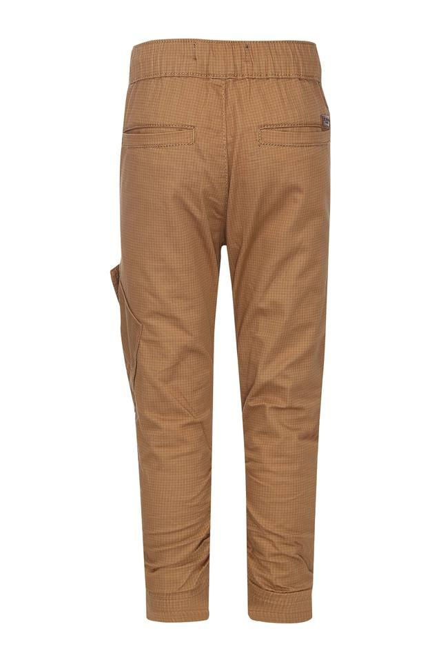 Boys 5 Pocket Checked Pants
