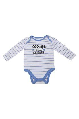 Kids Envelope Neck Striped Babysuit
