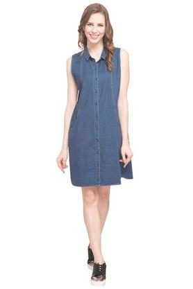 Womens Collared Shirt Dress