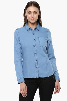 Womens Washed Casual Shirt
