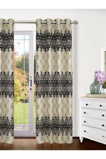 Polyester Logan Diamond Geometric Door Curtain