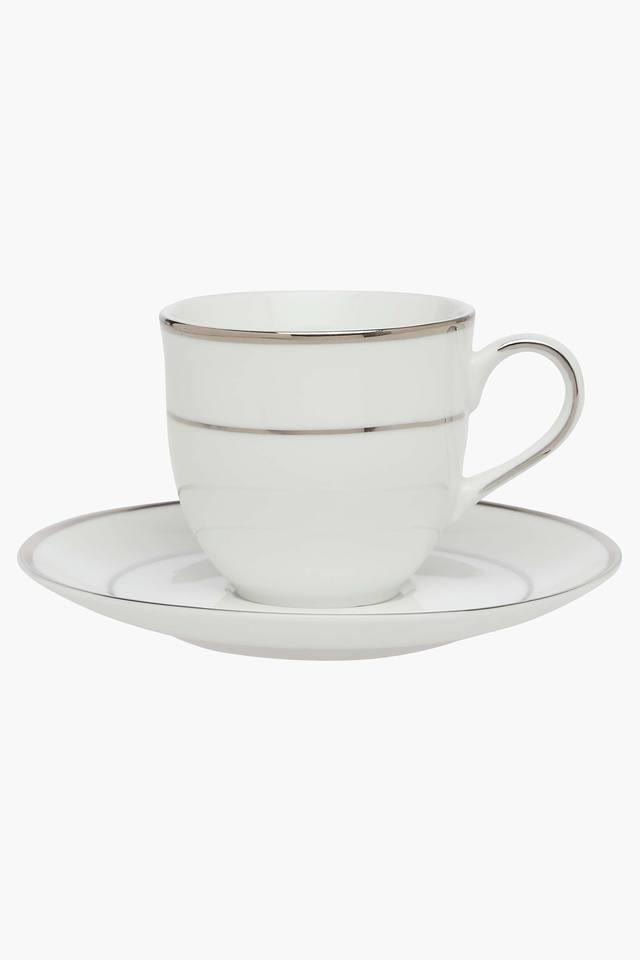 New Dazzle Platinum Cup and Saucer Set of 12 Pcs