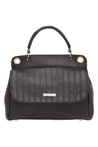 Womens Button Closure Satchel Handbag