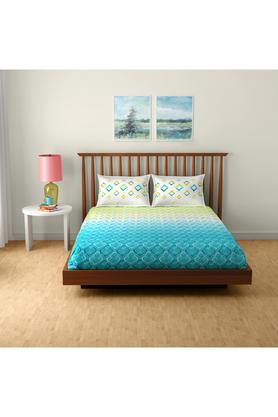 SPACESCotton Printed Double Bedsheet With 2 Pillow Covers - 203257349_9900