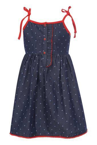 Girls Strappy Neck Printed Dress