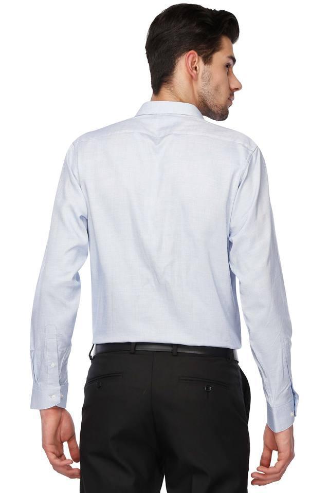 Mens Regular Collar Self Pattern Shirt