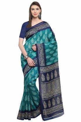 RACHNAWomens Bhagalpuri Printed Saree With Blouse