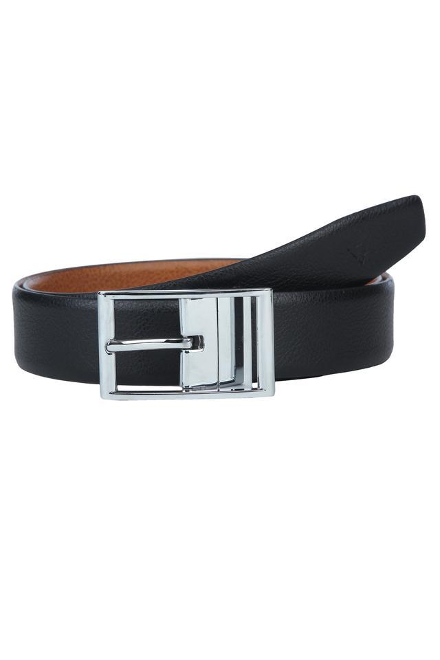 Mens Formal Buckle Closure Reversible Belt