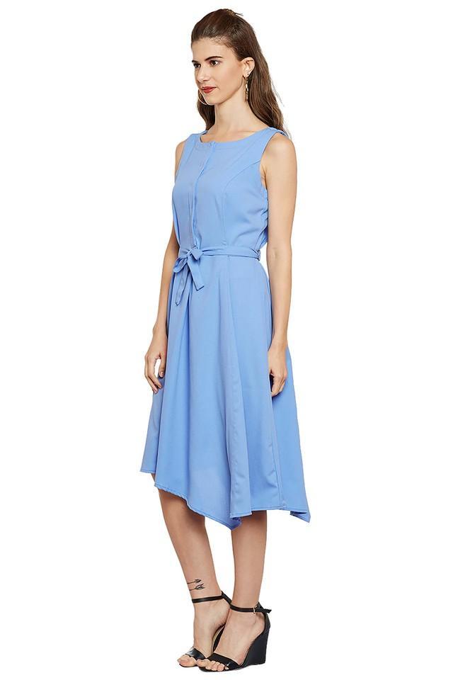 Womens Round Neck Asymmetrical Dress