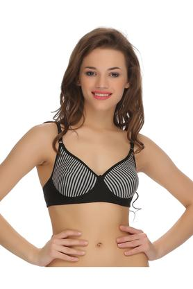 Womens Striped Non Padded Non Wired T-Shirt Bra
