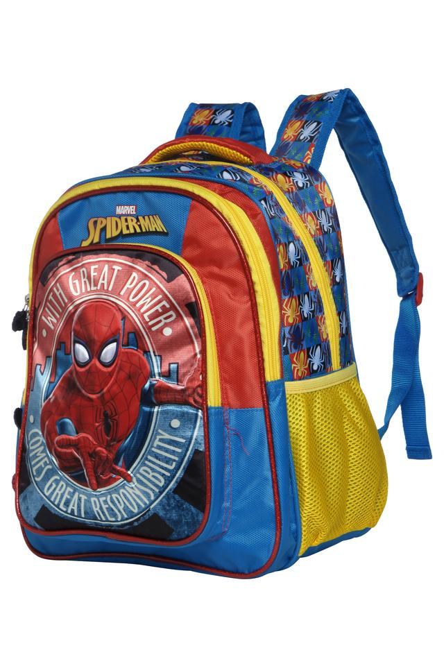Unisex Spiderman 3 Compartment Zip Closure Backpack