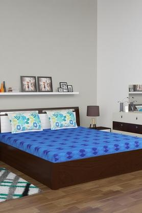 Geometric Printed Double Bed Sheet with Pillow Cover