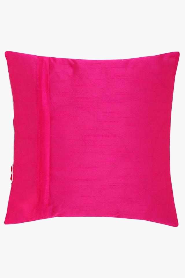Square Corsage Embroidered Cushion Cover