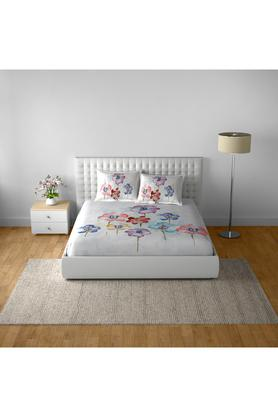 SPACESCotton Printed Double Bedsheet With 2 Pillow Covers - 203257425_9900