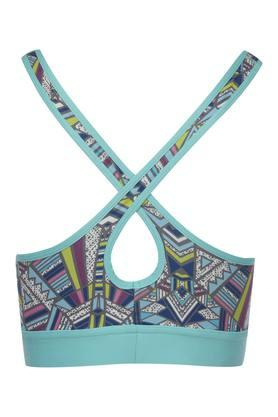 Womens Printed Padded Non Wired Sports Bra