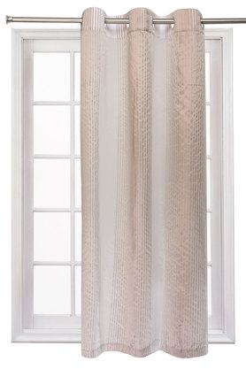 Poly Cotton Stripe Window Curtain