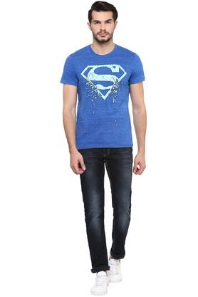 Mens Round Neck Superman Printed T-Shirt