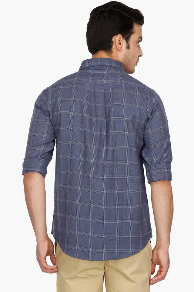 Mens Regular Collar Check Shirt