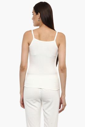 Womens Strappy Neck Slub Thermal Vest