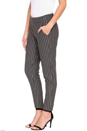 Womens 4 Pocket Striped Pants
