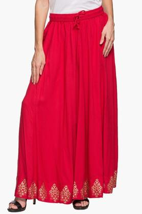 IMARAWomens Solid Long Skirt