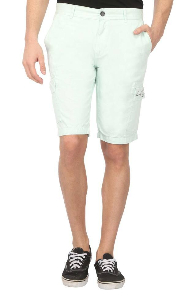 Mens 6 Pocket Solid Shorts