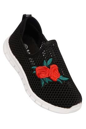 Girls Embroidered Slipon Sneakers