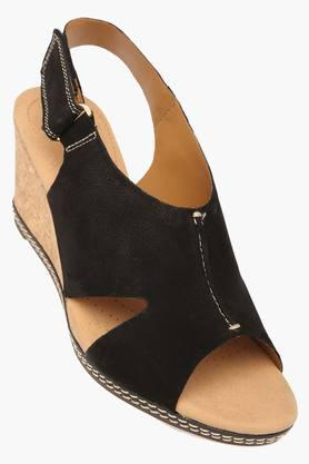 CLARKS Womens Party Wear Velcro Closure Wedges