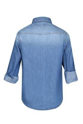 Boys 2 Pocket Washed Shirt