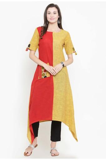 VARANGA -  YellowSalwar & Churidar Suits - Main