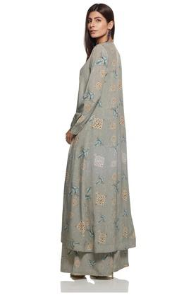 Women Open Front Printed Cape Shrug