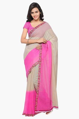 DEMARCA Womens Faux Georgette Printed Saree