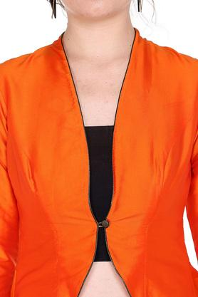 Womens Open Front Neck Solid Top