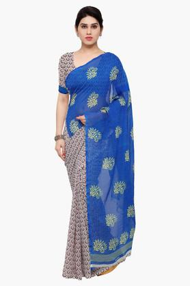 DEMARCA Womens Faux Georgette Printed Saree - 203229596