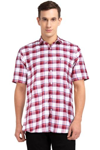 ALLEN SOLLY -  Maroon Shirts - Main
