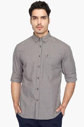 02d2e7aa2c X INDIAN TERRAIN Mens Buttondown Collar Check Shirt