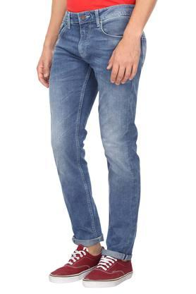 Mens Slim Fit 5 Pocket Mild Wash Jeans