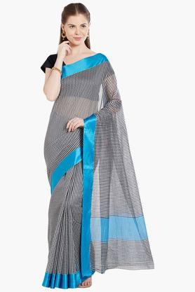 JASHN Womens Checked Art Silk Saree - 203329070