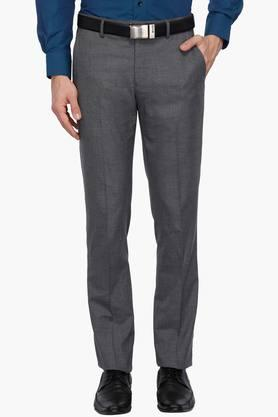 LOUIS PHILIPPE Mens 4 Pocket Slub Formal Trousers - 203032203