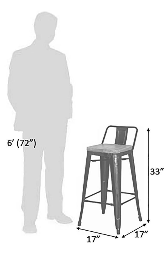 Black Maise Bar Chair