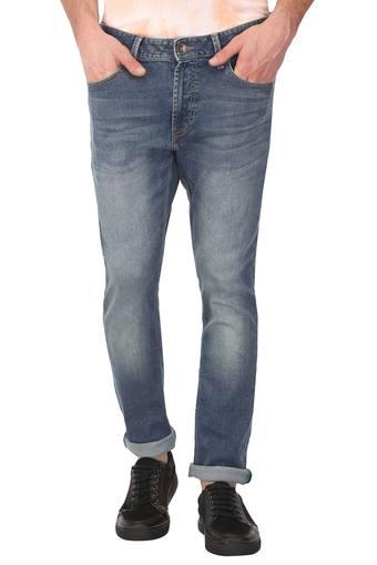 Mens Whiskered Effect Jeans