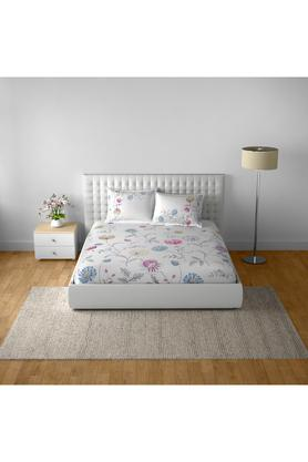 SPACESCotton Printed Double Bedsheet With 2 Pillow Covers - 203257436_9900