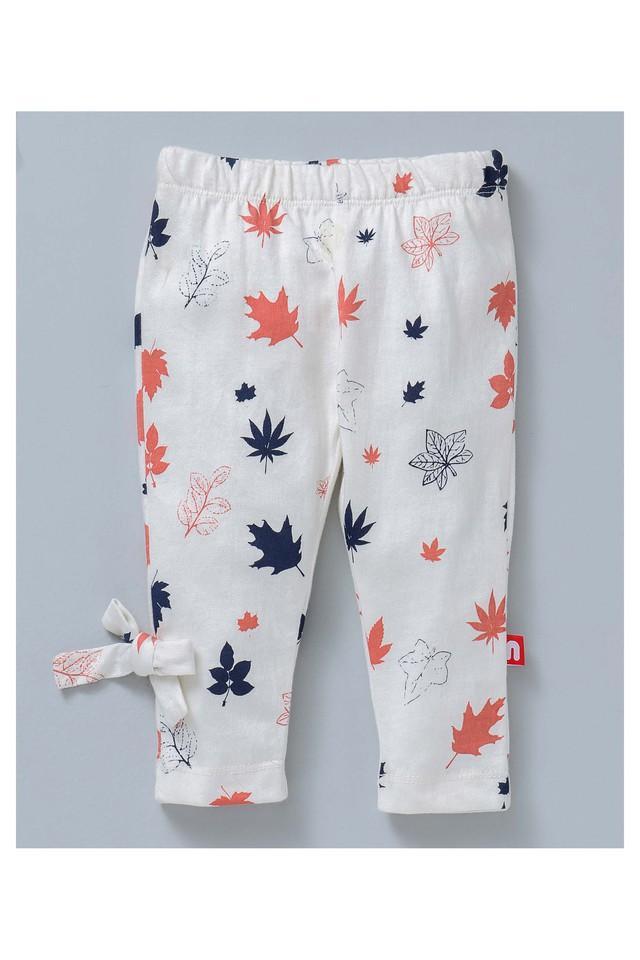 Girls Regular Fit Printed and Solid Leggings Pack of 2